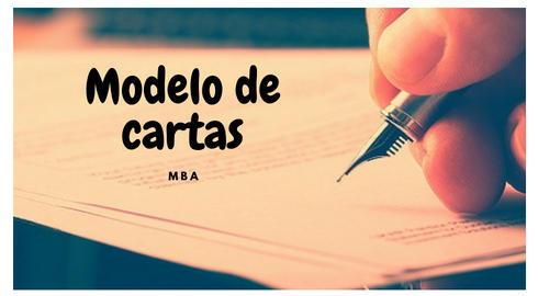 Modelo De Carta De Exposicion De Motivos De Estudio De Mba